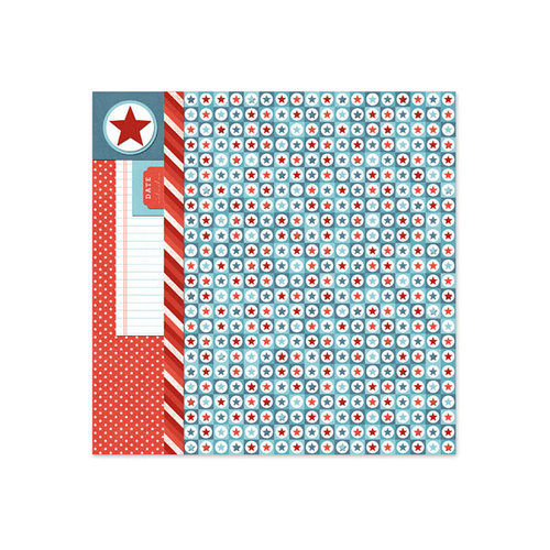 We R Memory Keepers - Red White and Blue Collection - 12 x 12 Foil Paper - Confetti
