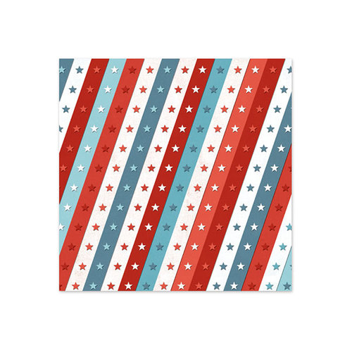 We R Memory Keepers - Red White and Blue Collection - 12 x 12 Foil Paper - Ticker Tape