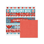 We R Memory Keepers - Red White and Blue Collection - 12 x 12 Double Sided Paper - Parade