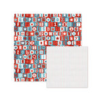 We R Memory Keepers - Red White and Blue Collection - 12 x 12 Double Sided Paper - Patriotic Alphabet