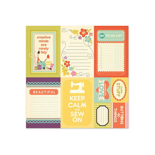 We R Memory Keepers - Love 2 Craft Collection - 12 x 12 Glitter Paper - Sentiment