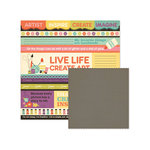 We R Memory Keepers - Love 2 Craft Collection - 12 x 12 Double Sided Paper - Create