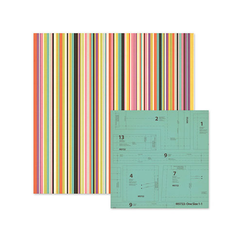 We R Memory Keepers - Love 2 Craft Collection - 12 x 12 Double Sided Paper - Poplin