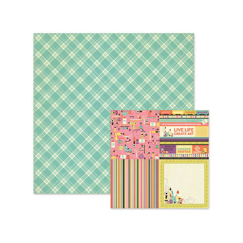 We R Memory Keepers - Love 2 Craft Collection - 12 x 12 Double Sided Paper - Flannelette