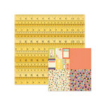 We R Memory Keepers - Love 2 Craft Collection - 12 x 12 Double Sided Paper - Measuring Tape