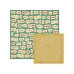 We R Memory Keepers - Hall Pass Collection - 12 x 12 Double Sided Paper - Texting