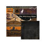 We R Memory Keepers - Black Widow Collection - Halloween - 12 x 12 Double Sided Paper - Bits and Bats