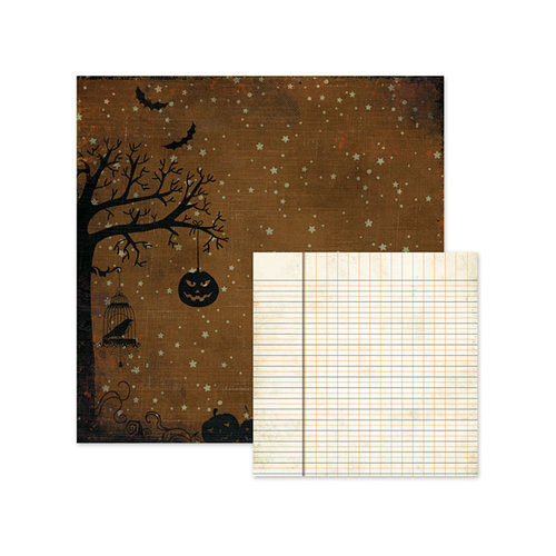 We R Memory Keepers - Black Widow Collection - Halloween - 12 x 12 Double Sided Paper - Jack O Lantern