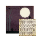 We R Memory Keepers - Black Widow Collection - Halloween - 12 x 12 Double Sided Paper - Nightfall