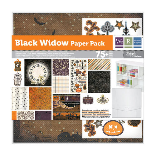We R Memory Keepers - Black Widow Collection - Halloween - 12 x 12 Paper Pack