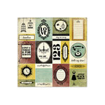 We R Memory Keepers - Antique Chic Collection - 12 x 12 Paper with Foil Accents - Genevieve