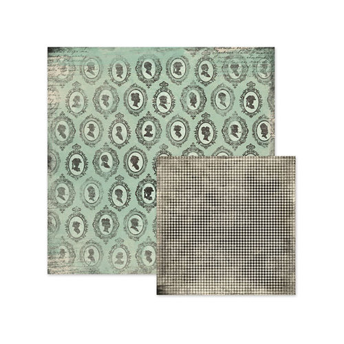We R Memory Keepers - Antique Chic Collection - 12 x 12 Double Sided Paper - Dolores