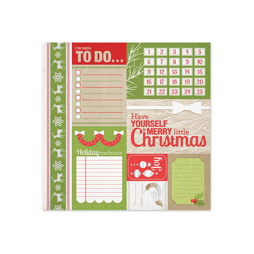 We R Memory Keepers - Yuletide Collection - Christmas - 12 x 12 Paper with Foil Accents - Card