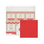 We R Memory Keepers - Yuletide Collection - Christmas - 12 x 12 Double Sided Paper - Gingerbread