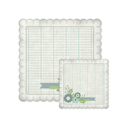 We R Memory Keepers - Winter Frost Collection - 12 x 12 Double Sided Die Cut Paper - Notes