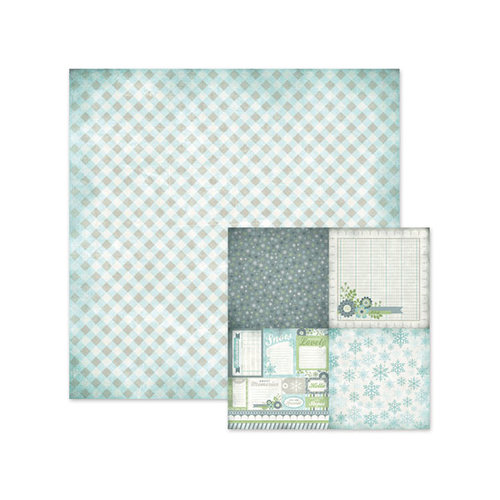 We R Memory Keepers - Winter Frost Collection - 12 x 12 Double Sided Paper - Gingham
