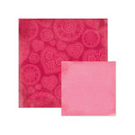 We R Memory Keepers - Crazy For You Collection - 12 x 12 Double Sided Paper - Crush