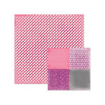 We R Memory Keepers - Crazy For You Collection - 12 x 12 Double Sided Paper - Pucker Up