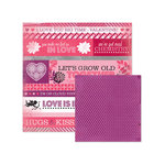 We R Memory Keepers - Crazy For You Collection - 12 x 12 Double Sided Paper - XOXO