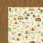 We R Memory Keepers - Happy Campers Collection - 12 x 12 Double Sided Paper - Campground