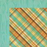 We R Memory Keepers - Happy Campers Collection - 12 x 12 Double Sided Paper - Flannel Shirt
