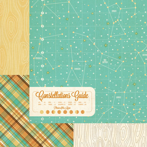 We R Memory Keepers - Happy Campers Collection - 12 x 12 Double Sided Paper - Constellations