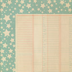 We R Memory Keepers - Country Livin' Collection - 12 x 12 Double Sided Paper - Rustic Ledger