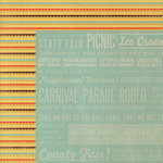 We R Memory Keepers - Country Livin' Collection - 12 x 12 Double Sided Paper - Scallop Stripes