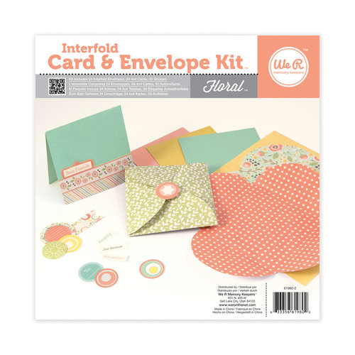 We R Memory Keepers - Interfold Card and Envelope Kit - Floral