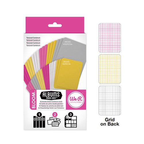 We R Memory Keepers - Albums Made Easy - Cardstock Cards - Bloom