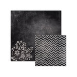 We R Memory Keepers - Chalkboard Collection - 12 x 12 Double Sided Paper - Blackboard