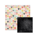 We R Memory Keepers - Chalkboard Collection - 12 x 12 Double Sided Paper - Chevron