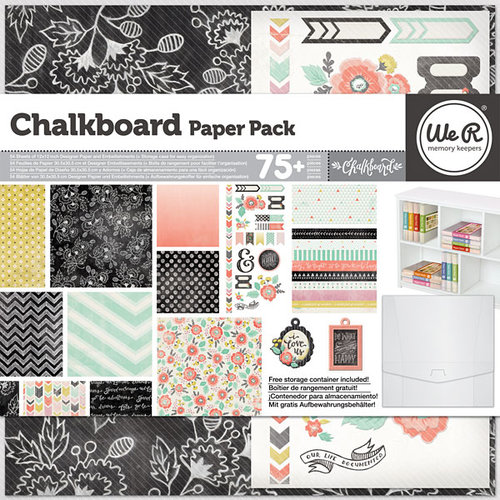 We R Memory Keepers - Chalkboard Collection - 12 x 12 Paper Pack
