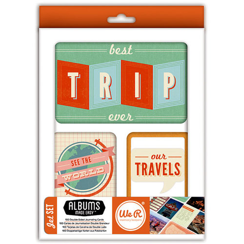 We R Memory Keepers - Albums Made Easy - Journaling Cards - Jet Set