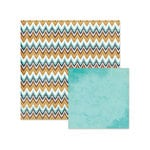 We R Memory Keepers - Indian Summer Collection - 12 x 12 Double Sided Paper - Ikat