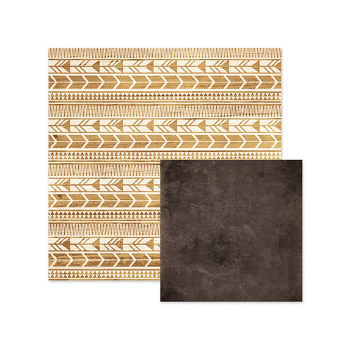 We R Memory Keepers - Indian Summer Collection - 12 x 12 Double Sided Paper - Aztec