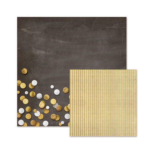 We R Memory Keepers - Silver and Gold Collection - Christmas - 12 x 12 Double Sided Paper - Silver and Gold