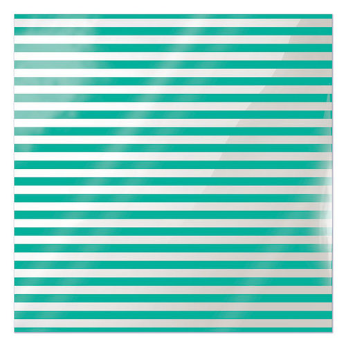 We R Memory Keepers - Clearly Bold Collection - 12 x 12 Acetate Paper - Neon Teal Stripe