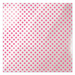 We R Memory Keepers - Clearly Bold Collection - 12 x 12 Acetate Paper - Neon Pink Dot