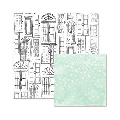 We R Memory Keepers - Love Notes Collection - 12 x 12 Double Sided Paper - French Doors