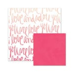 We R Memory Keepers - Love Notes Collection - 12 x 12 Double Sided Paper - Love and Adore