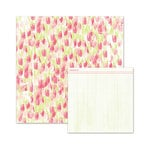We R Memory Keepers - Love Notes Collection - 12 x 12 Double Sided Paper - Tulip