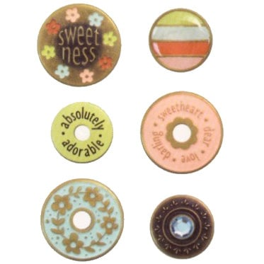 We R Memory Keepers - Designer Eyelets and Snaps - Vintage Brass