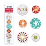We R Memory Keepers - White Out Collection - Frenzy - Designer Eyelets and Snaps, CLEARANCE