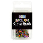 We R Memory Keepers - Black Out Halloween Collection - Glitter Brads, CLEARANCE