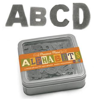 We R Memory Keepers - Precious Metals Collection - Metal Alphabet Set - Pewter Press - Broken