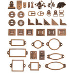 We R Memory Keepers - Precious Metals Collection - Metal Hardware Set - Coppered Out