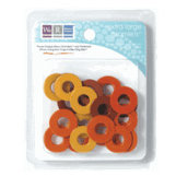 We R Memory Keepers - Extra Large Assorted Gromlets - Oranges, CLEARANCE