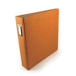 We R Memory Keepers - Linen 12x12 Postbound Albums  - Orange Zest