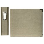 We R Memory Keepers Linen 12 x 12 Postbound Albums - Silverstone